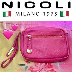 ❤️NWOT Nicoli Large Italian Leather Wristlet